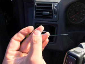 Bent paperclip